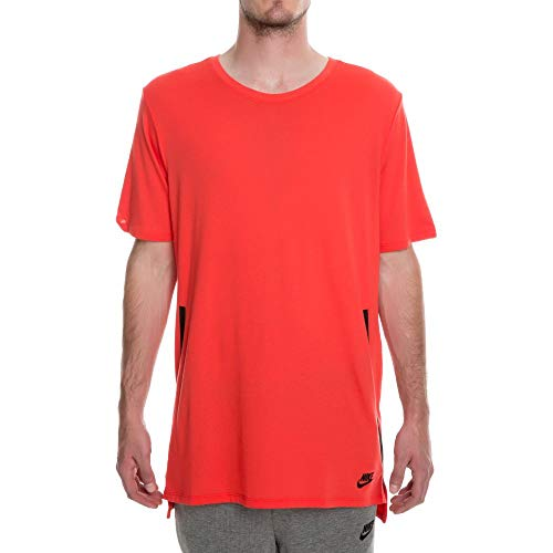 Nike Men's Sportswear DropTail Bonded Mesh T-Shirt Red 847507 602