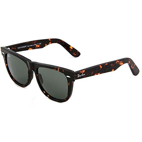 Ray-Ban Sunglasses - RB2140 Wayfarer / Frame: Tortoise Lens: Green - Lens Ray Ban Tortoise Wayfarer Green