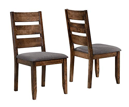 Alston Ladderback Dining Side Chairs Knotty Nutmeg and Grey (Set of 2) ()