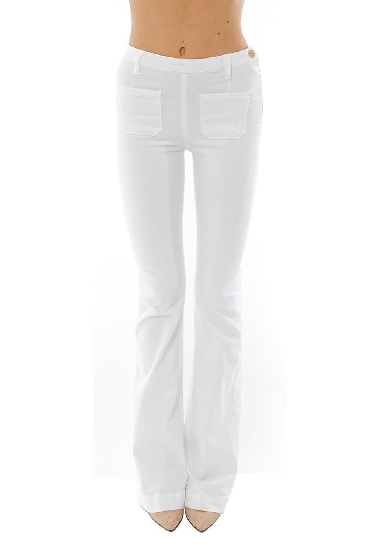 FRAME Denim Women's Le High Flare Patch Pocket: Blanc