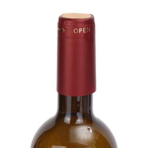 Vivona Hardware & Accessories 100Pcs Heat Shrink Cap PVC Tear Tape Wine Bottle Seal Ring Cover - (Color: Gold) by Vivona (Image #6)