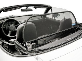Miata Convertible (1990 to 2004) Love The Drive™ Wind Deflector. Wind Deflectors are known also as: Wind Screen, Windscreen, Windstop and Wind Blocker