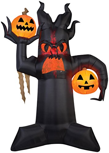 Extra Large 10.5 Foot Lighted Blow Up Halloween Inflatable Projection Kaleidoscope Spooky Tree Outdoor Yard Decoration ()