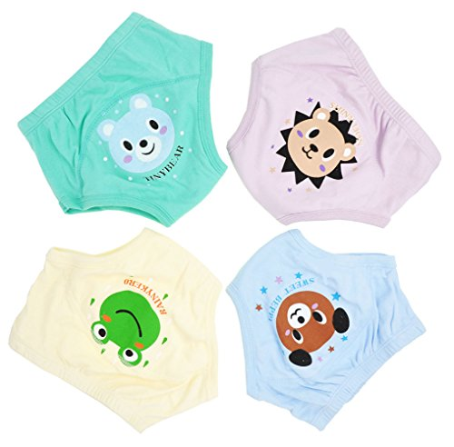 Adorable Toddler Potty Training Pants for Baby Boys and Girls,Size for 9 Months to 3 Years,Pure Cotton,4 Pack (2Year-3 Year, B)