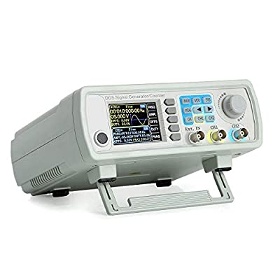 15MHz Upgraded DDS Signal Generator Counter,High Precision Dual-Channel Arbitrary Waveform Function Generator Frequency Meter 266MSa/s