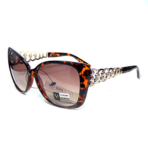 VG12-S2 VG Eyewear ® Cateye Rhinestones Women's Sunglasses Gradient UV400 - Lady Gaga Sunglasses Eye Cat