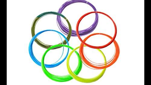 WOL3D's 3D Pen Filament of 1.75mm. 8 Random Colours of 5m Each and PLA Material.