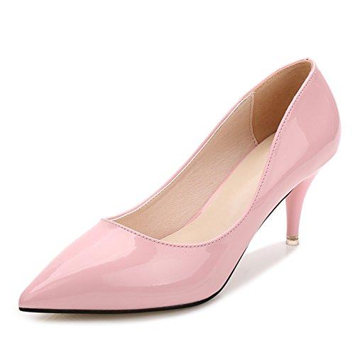Fereshte Kvinna Klassiskt Enkla Stilett Mitten Höga Låga Klackar Pumpar 7cm-rosa