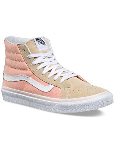 Vans Women's Ua Sk8-Hi Slim Hi-Top Sneakers Pale Khaki/True White qO3NEtUh
