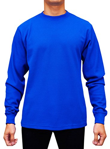 Access Men's Heavyweight Long Sleeve Thermal Crew Neck Top Royal Extra (Royal Blue Crewneck)