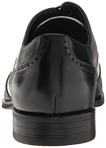 Stacy Adams Mens Stockwell-wingtip Oxford Zwart / Amp / Wit