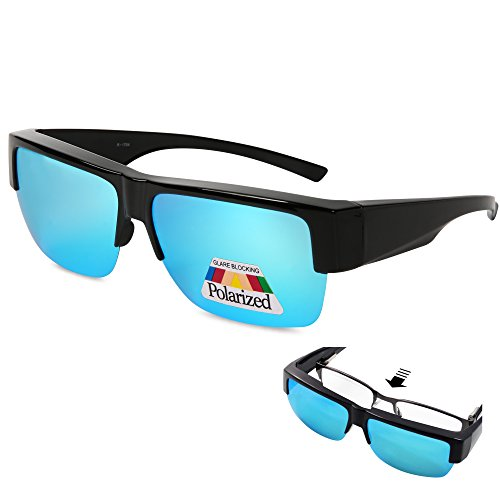 EYEGUARD Fit Over Polarized Sunglasses For Men - Wear Over Prescription Glasses
