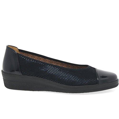 Ocean Mujer Comfort de Basic Cordones Zapatos para Patent Gabor Derby Dot 8x0Bqda0w