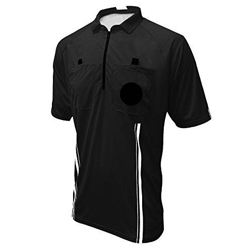 Winners Sportswear New USSF Pro Soccer Referee Jersey (Black, Youth Large)