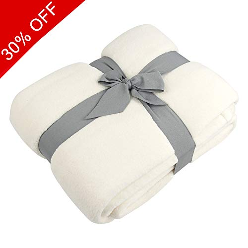 - Somewhere Fleece Blanket Soft, Coral Fleece Plush Throw TV Blanket, Cozy 100% Polyester Alta Luxury Hotel Fleece Blanket-Queen Comforter Cream-Protects Against Dust Mites and Allergens