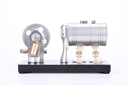 Lieyang Live BRASS Cylinder Steam Engine DIY Stirling Science Educational toy Kit K005