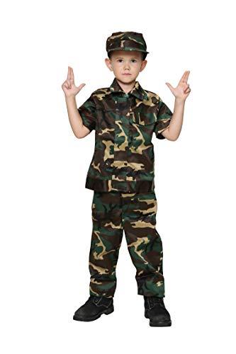 Jason Party Boys Soldier Costumes Army Costumes Boys Camo Costumes for Kids Army Military Costumes (shortwoodland-4-6, Short Woodland)