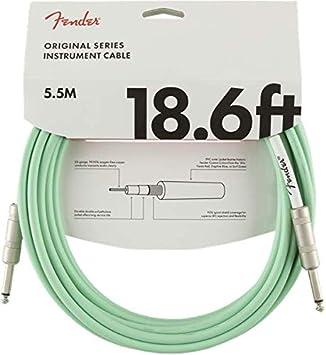 Fender Original Series - Cable de antena (5,5 m), color verde: Amazon.es: Instrumentos musicales