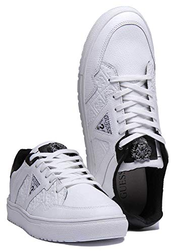Homme Guess Baskets Guess Pour Weiß Baskets qHF0IY