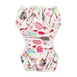 Babygoal Baby Girl Reusable Swim Diaper, One Size