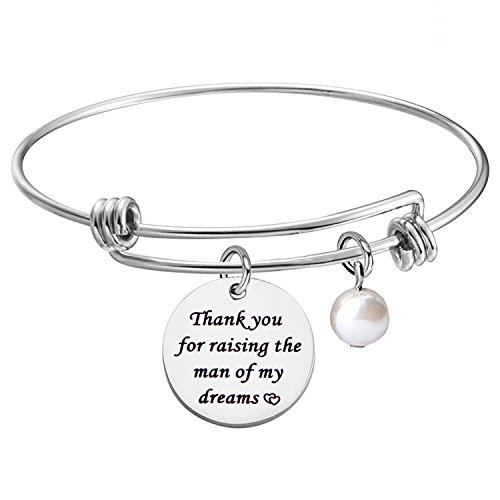 KUIYAI Thank You for Raising The Man of My Dream Expandable Bracelet Bangle Gift for Mother in Law (MIL Bracelet 1)