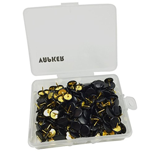 Tack Matte - VAPKER 200 PCS Thumb Tacks Black Plastic Round Head Thumbtacks