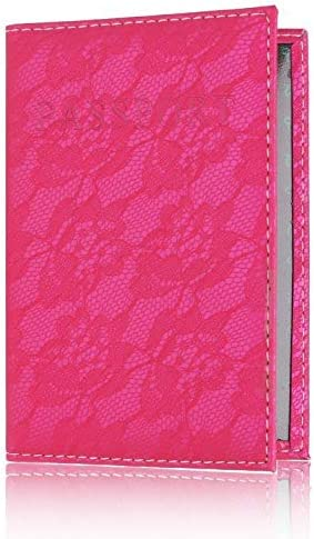 Fragil Tox Ticket Holder Lace Elegant Women Passport Cover Pink World Universal Travel Passport Ticket Holder Cover On The Passport Case Passport Pouch Rose red 3pcs