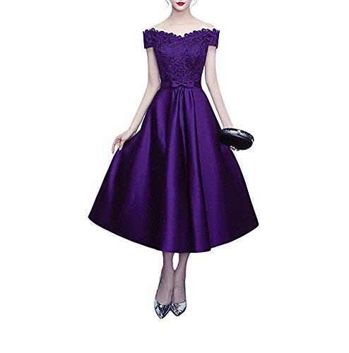 Linie Kleid Leader the Beauty A Violett Damen of w1vCqYWvX