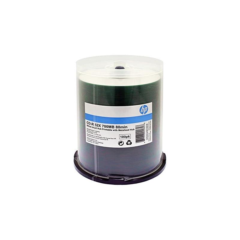 HP CD-R 52X 80 MIN White Inkjet Printabl