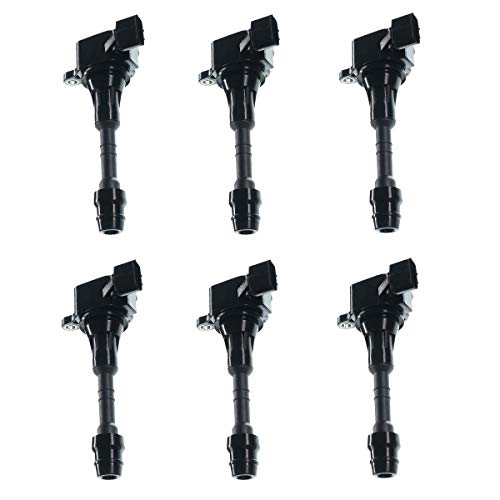 A-Premium Ignition Coils Pack for Nissan Altima Frontier Maxima Murano Pathfinder Quest Xterra Infiniti I35 QX4 Suzuki Equator 3.5L 4.0L 6-PC Set