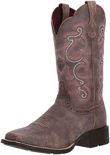 Ariat Women's Quickdraw Work Boot, Tack Room Chocolate, 7.5 B US by Ariat