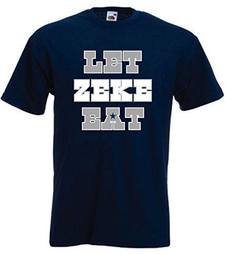 """Navy Dallas Elliott """"Let Zeke Eat"""" T-Shirt ADULT XL"""