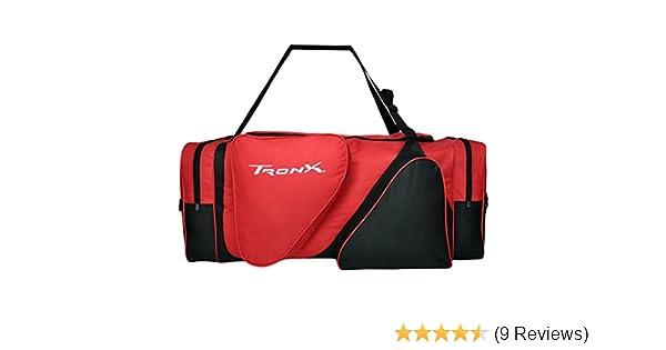 3e192bf676b Amazon.com   TronX Hockey Equipment Locker Bag (Black Red)   Sports    Outdoors