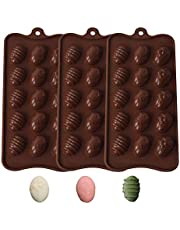 Easter Eggs Chocolate Candy Molds -Silicone Chocolate Candy Molds Ice Cube Molds Set of 3