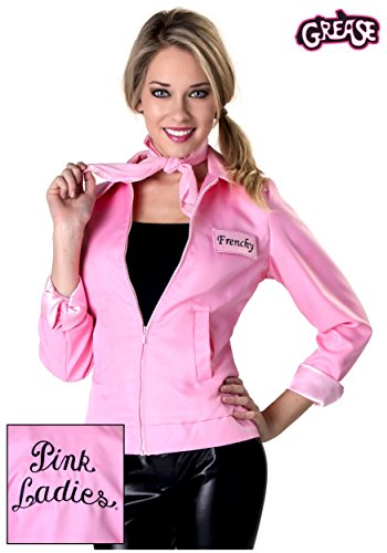 The Pink Satin Ladies Plus Costumes (Authentic Grease Plus Size Pink Ladies Jacket 2X)