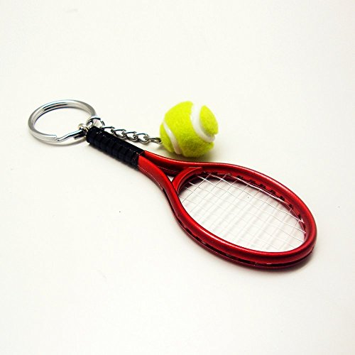 Tennis Racket Key Chain (Red) - 1
