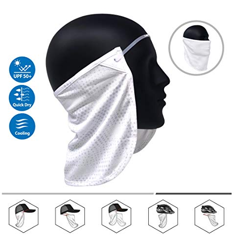 Neck or Face Sun Mask | 1 Product 2 Uses | 1 Removable Universal Fit Headband with 1 Flap | Multifunctional Headwear | 4 Season Performance | Caps | Hats ()