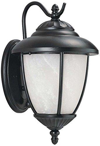 Sea Gull 84050pen-12ヨークタウンアウトドア壁取り付け用燭台、1-light 9ワット、ブラック B01N20NIOX