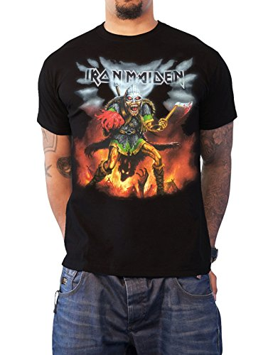 Official Iron Maiden T Shirt Book of Souls Tour Nordic Event 2016 Mens Black Size XL