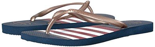 Pictures of Havaianas Women's Slim Flip Flop Sandals Nautical Slim Nautical Sandal 4