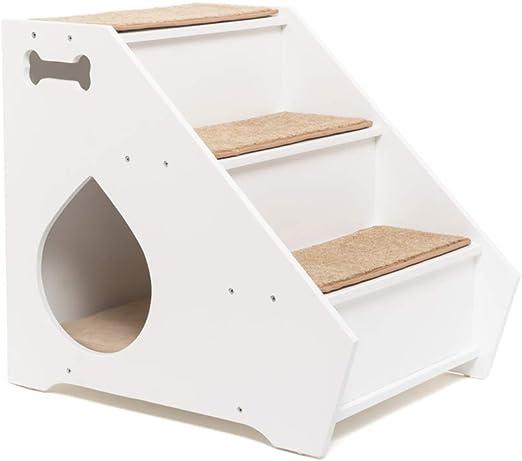 D-Mail Escalera con caseta para Perros de pequeño tamaño: Amazon.es: Hogar