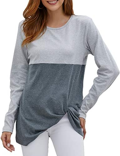 Xpenyo Womens Long Sleeve Tops Twisted/ Sweatshirt Loose T Shirt Blouses Tunic Tops