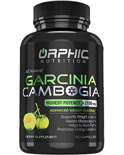 100% Pure Garcinia Cambogia Extract – Appetite Suppressant – Carb Blocker Capsules – 2100 MG – 90 Caps