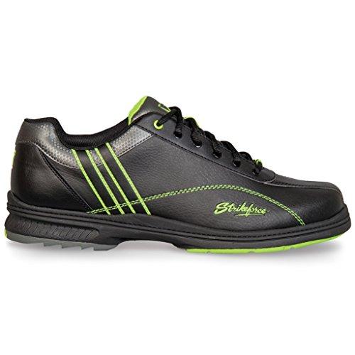 KR Strikeforce Herren Raptor Performance Bowling Schuhe - Rechte Hand Schwarz / Lime