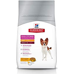 Hill's Science Diet Adult Light Small Paws with Chicken Meal & Barley Dry Dog Food, 4.5 lb bag