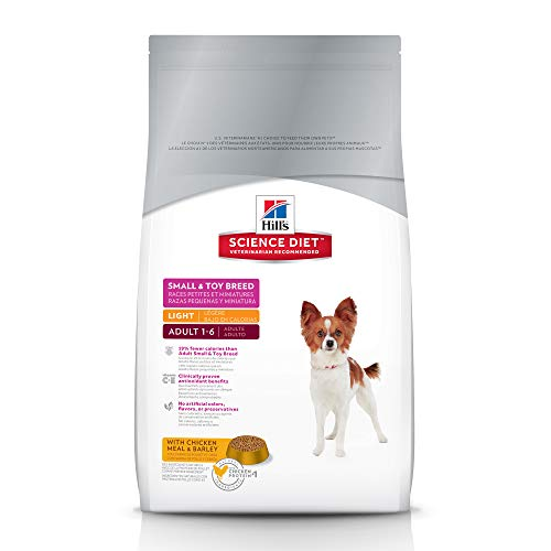 Hill's Science Diet Adult Light Small Paws with Chicken Meal & Barley Dry Dog Food, 15.5 lb bag