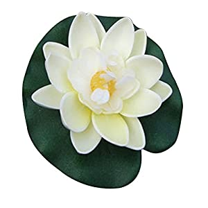 Erovy - 1PC Floating Artificial Lotus Ornament for Aquarium Fish Tank Pond Water lily Lotus Artificial Flowers Home Decoration 77