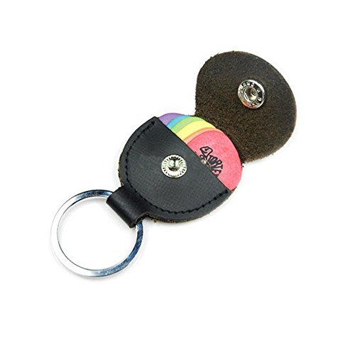 StaiBC Guitar Leather Keychain Plectrum