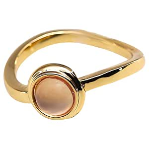 Elementesse Women's Gold Plated Stainless Steel Ring - 7 US