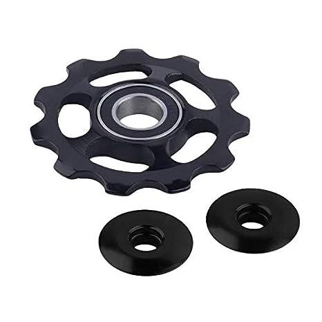 Cutowin 11Tooth MTB - Rodamiento de cerámica para Bicicleta de Carretera, Negro Cutogain